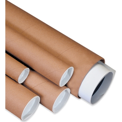Kraft Mailing Tubes with End Caps