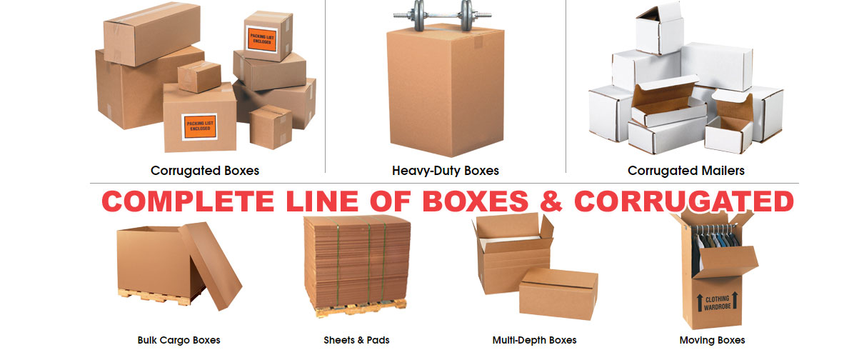 Complete line of packaging boxes & corrugated