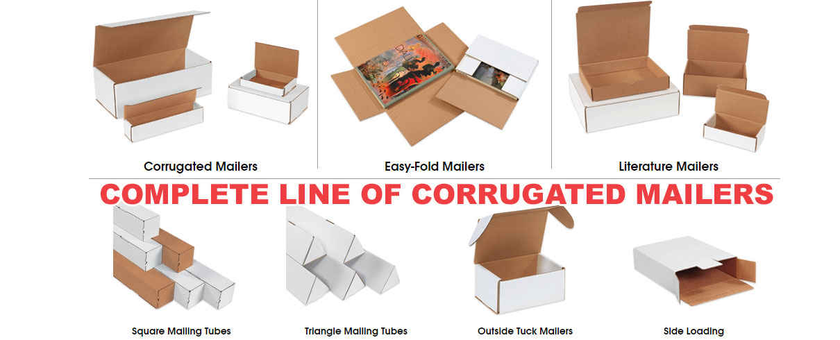 Complete line of packaging corrugated mailers