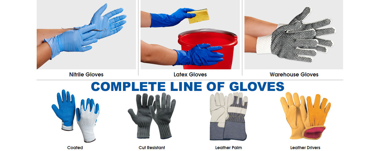 Complete line of gloves