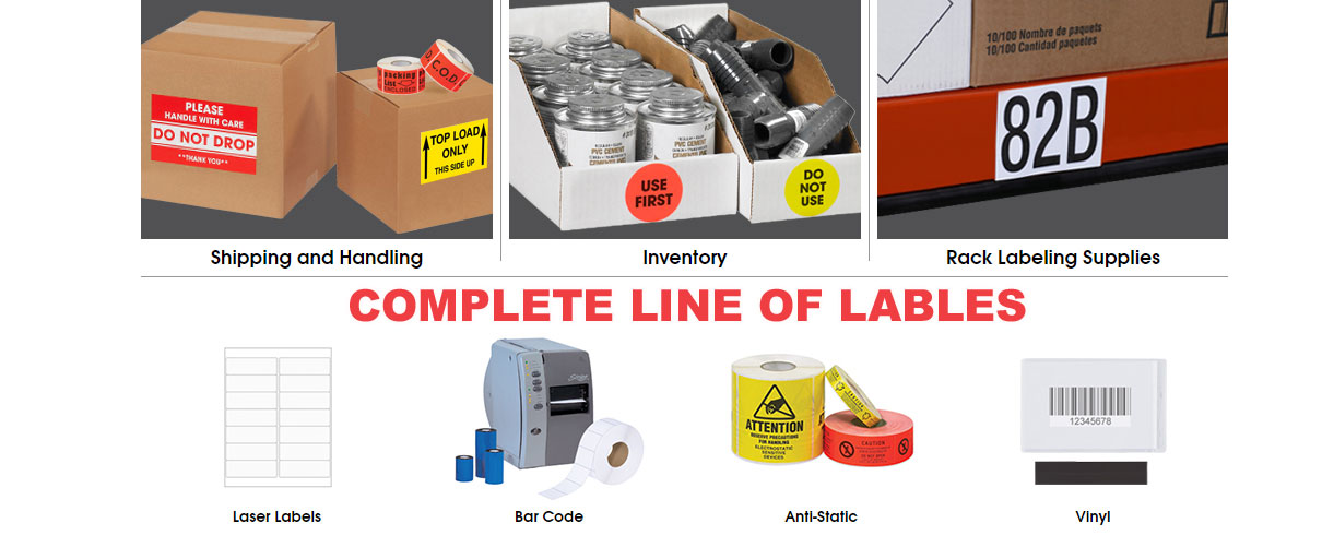 Complete line of packaging labels