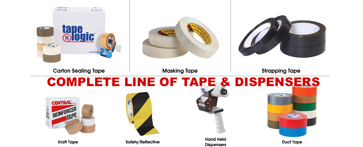 Complete line of packaging tape & dispensers
